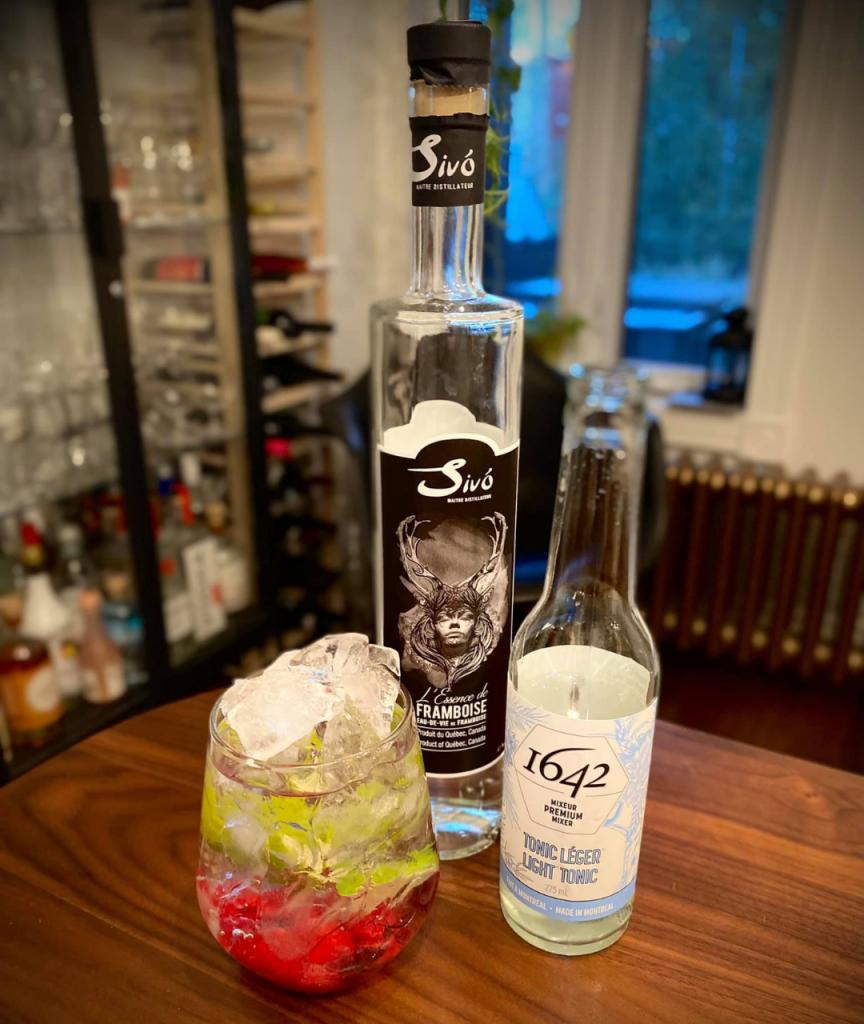 Cocktail Euphorie aux framboises
